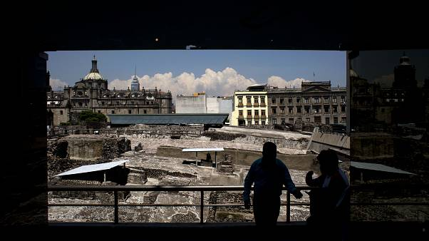 Başkent Mexico City'de Azteklere ait arkeolojik alan