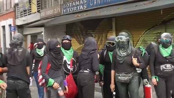 Protesta feminista en México DF