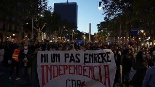 Manifestacion en Barcelona contra la inhabilitación de Quim Torra