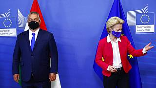 Orbán Viktor magyar miniszterelnök és Ursula von der Leyen, a Bizottság elnöke