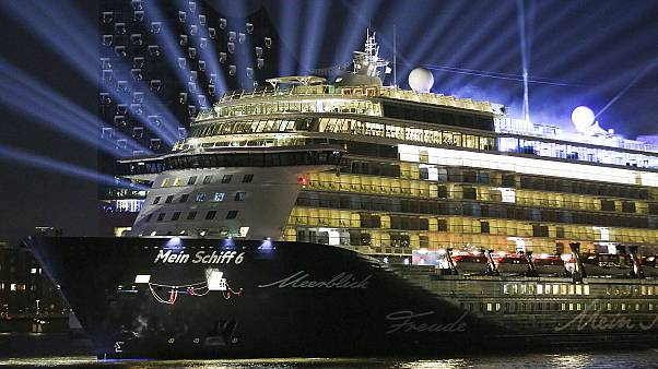 Cruise ship Mein Schiff 6 in Hamburg before its official launch in 2017.
