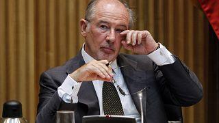 Rodrigo Rato durante su comparecencia en la comisión de investigación del Congreso