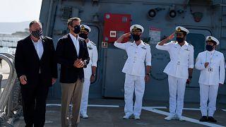 ABD Dışişleri Bakanı Mike Pompeo Suda Körfezi'ndeki askeri üssü ziyaret etti