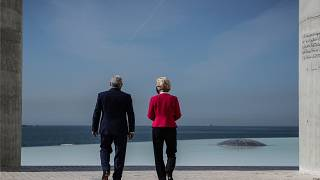 António Costa e Ursula Von der Leyen na Fundação Champalimaud, em Lisboa