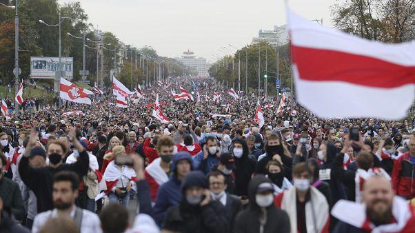 Протесты в Минске.