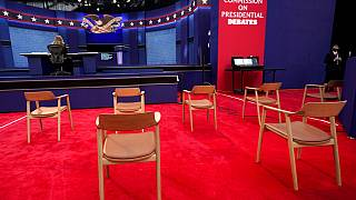 Tuesday's debate takes place in Cleveland, Ohio