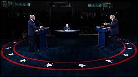 من المناظرة بين ترامب وبايدن