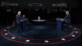 من المناظرة التلفزيونية بين ترامب وبايدن