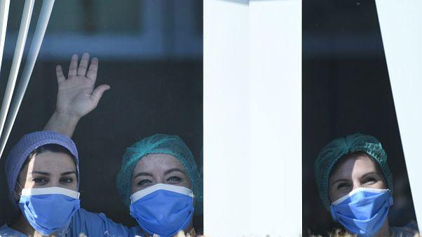 ممرضات في المستشفى الجامعي في جيتي، بلجيكا
