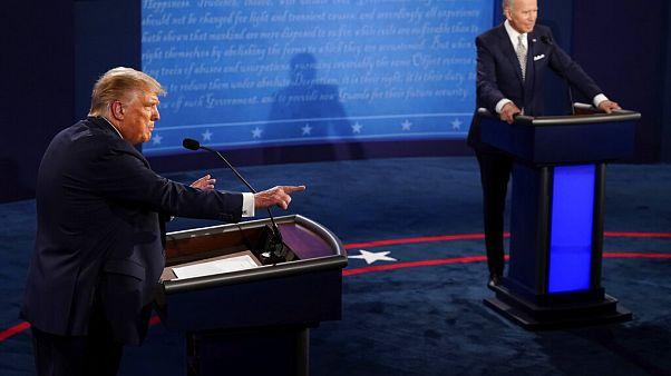 Στιγμιότυπο από την τηλεμαχία Ντ. Τραμπ-Τζ. Μπάιντεν