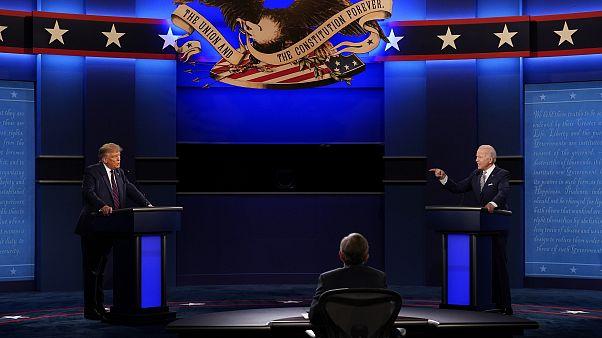 ترامب وبايدن خلال المناظرة أمس