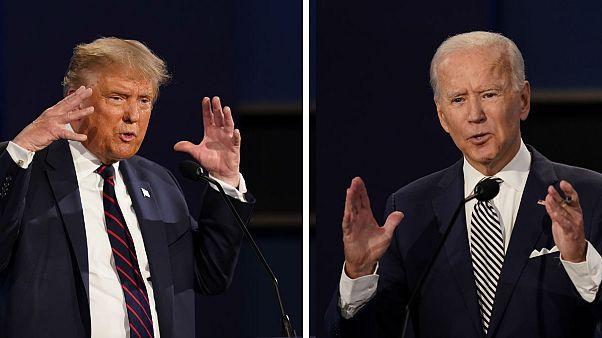دونالد ترامپ و جو بایدن در نخستین مناظره انتخابات ریاست جمهوری ۲۰۲۰