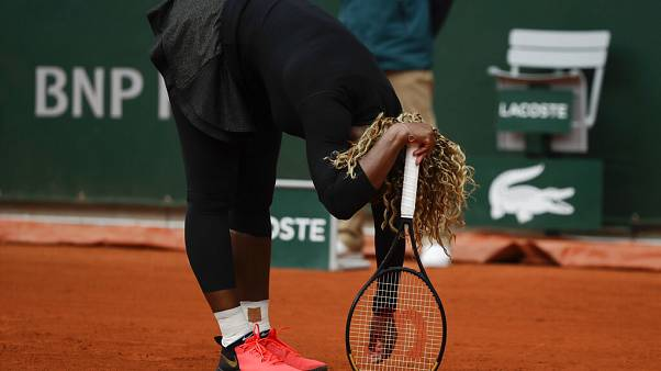 Serena Williams lors du 1er tour à Roland-Garros - Paris, le 28/09/2020