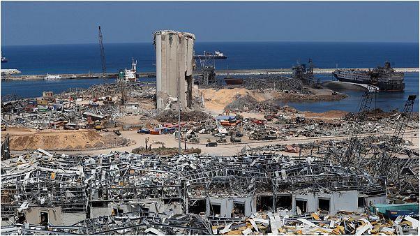 مرفأ بيروت بعد الانفجار