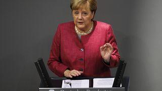 Выступление Ангелы Меркель в Бундестаге