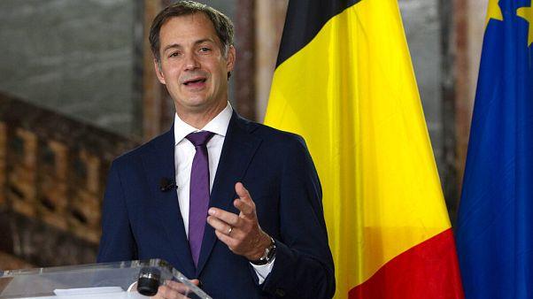 El futuro primer ministro Alexander De Croo presenta el acuerdo de Gobierno