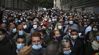 Manifestation des restaurateurs contre les restrictions sanitaires à Marseille, 25/09/2020