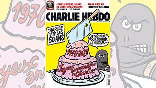 La Une du numéro du 1er octobre 2020 de Charlie Hebdo qui célèbre ses 50 ans