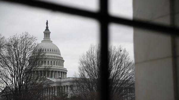 """مبنى """"كابيتول هيل"""" وفيه الكونغرس الأميركي"""