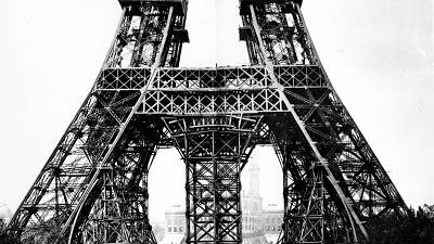 The Eiffel Tower in 1887. Paris, France