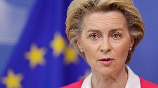 Archives : Ursula Von Der Leyen, la présidente de la Commission européenne, le 23 septembre à Bruxelles