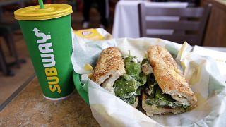 Egy New Hampshire-ben készített Subway-szendvics