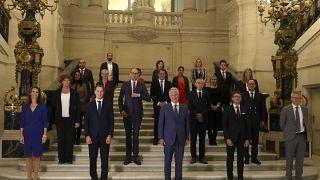 Az új belga kormány tagjai