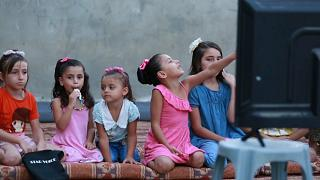 Kino vor dem Bildschirm in Gaza