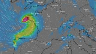 Storm Alex in the early hours of October 2.