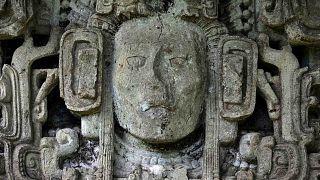 منظر تفصيلي لأطلال كوبان، أحد أهم مواقع حضارة المايا، والتي تم تسجيلها قبل 40 عامًا في قائمة التراث العالمي لليونسكو، هندوراس في 20 سبتمبر 2020