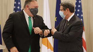 U.S. Secretary of State Mike Pompeo and Cypriot President Nicos Anastasiades
