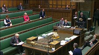 FILE: A photo of the House of Commons during the COVID-19 pandemic.