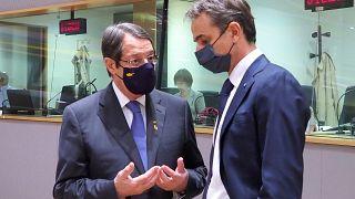 Νίκος Αναστασιάδης και Κυριάκος Μητσοτάκης στην Σύνοδο Κορυφής