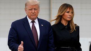 الرئيس الأميركي دونالد ترامب وعقيلته ميلانيا