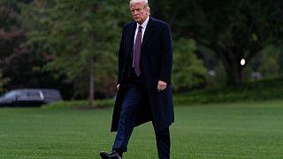 Donald Trump sur la pelouse de la Maison Blanche à Washington, le 1er octobre 2020