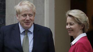 Archives : Boris Johnson et Ursula von der Leyen à Londres, le 8 janvier 2020