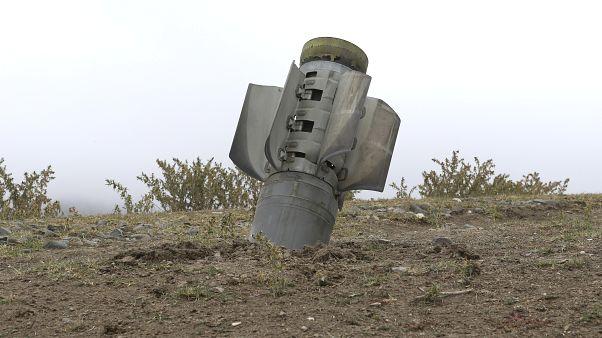 صاروخ لم ينفجر سقط في إقليم ناغورني قره باغ
