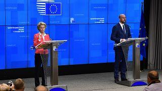 Ursula Von der Leyen et Charles Michel à Bruxelles