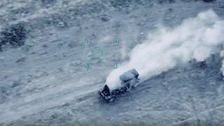 وزارت دفاع آذربایجان تصویر یک کامیون شلیک کاتیوشای ارتش ارمنستان را منتشر کرد
