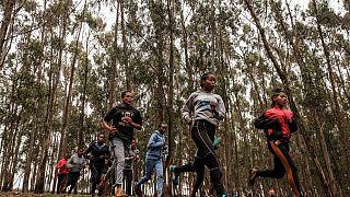 Atletas etíopes voltam a treinar