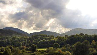 Il sito di estrazione della Volvic in Auvergne (Archivio 2009)