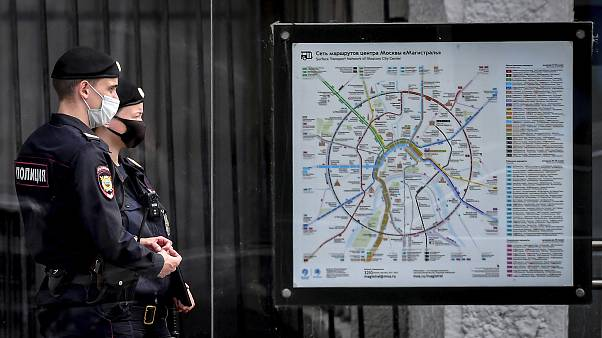 Полицейские в центре Москвы.