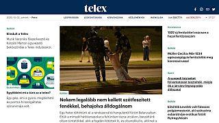 A telex.hu nyitólapja