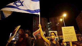 İsrail'de koronavirüse rağmen Başbakan Binyamin Netanyahu karşıtı gösteriler sürüyor