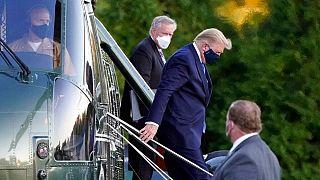 انتقال دونالد ترامپ به بیمارستان