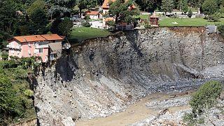 Der Fluss Vésubie war über die Ufer getreten