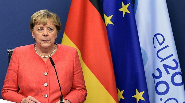 German Chancellor Angela Merkel at an EU summit in Brussels, Oct. 2, 2020.