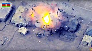 Azeri ordusu tarafından vurulan Ermeni hedefi