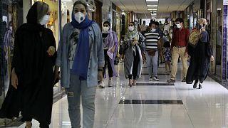 İran'ın başkenti Tahran'da bir alışveriş merkezi