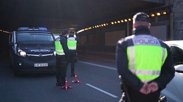 Controles en las carreteras de Madrid tras el confinamiento parcial